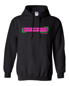 florescent pink provocative neon streetwear hoodie