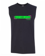 Load image into Gallery viewer, florescent green provocative men's sleeveless tee tank top