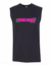 Load image into Gallery viewer, florescent pink provocative men's sleeveless tee tank top