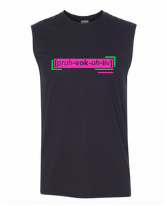 florescent pink provocative men's sleeveless tee tank top