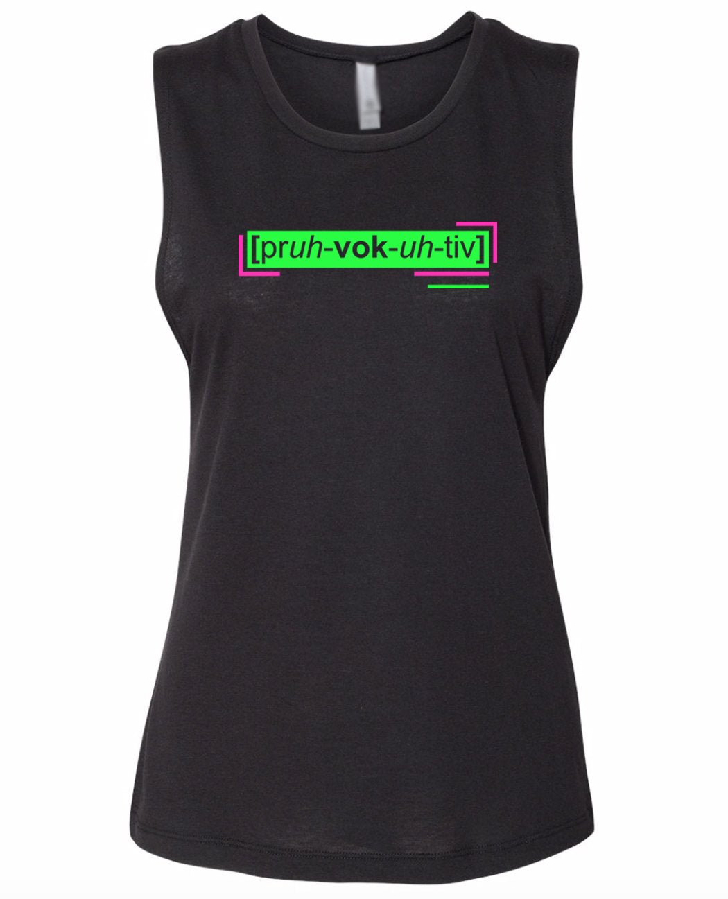 florescent green provocative neon streetwear tank top for women