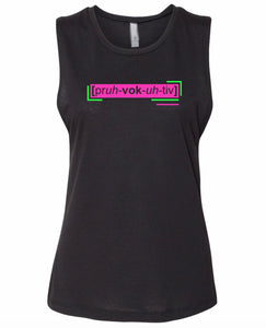 florescent pink provocative neon streetwear tank top for women