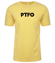 Load image into Gallery viewer, yellow ptfo mens crewneck t shirt