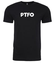 Load image into Gallery viewer, black ptfo mens crewneck t shirt