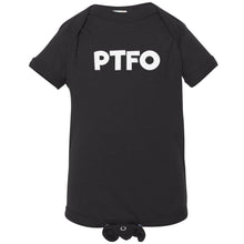 Load image into Gallery viewer, black PTFO onesie for babies