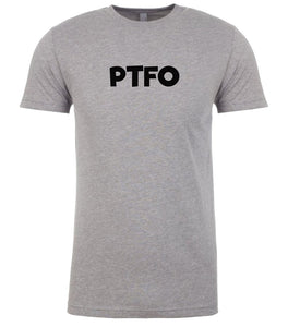 grey ptfo mens crewneck t shirt