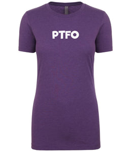 purple ptfo womens crewneck t shirt