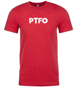 red ptfo mens crewneck t shirt