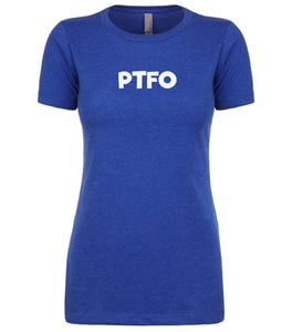 blue ptfo womens crewneck t shirt