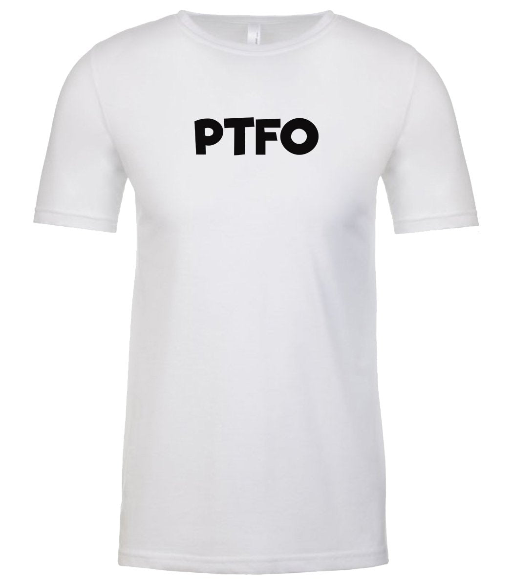 white ptfo mens crewneck t shirt