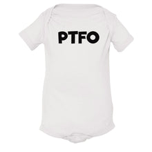 Load image into Gallery viewer, white PTFO onesie for babies