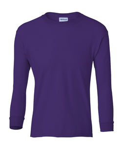 purple youth long sleeve t shirt