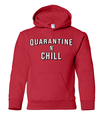 quarantine and chill kids hoodie