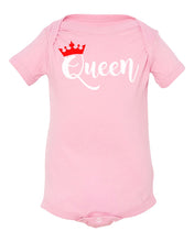 Load image into Gallery viewer, pink queen onesie
