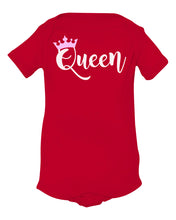 Load image into Gallery viewer, red queen baby onesie