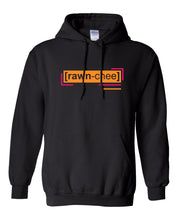 Load image into Gallery viewer, florescent orange raunchy neon streetwear hoodie