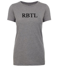 Load image into Gallery viewer, grey rbtl womens crewneck t shirt