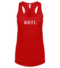 Load image into Gallery viewer, red RBTL racerback tank top for women