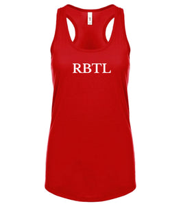 red RBTL racerback tank top for women