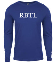 Load image into Gallery viewer, blue rbtl mens long sleeve shirt