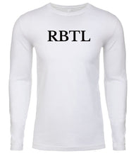 Load image into Gallery viewer, white rbtl mens long sleeve shirt