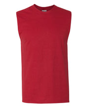 Load image into Gallery viewer, red men's sleeveless t-shirt
