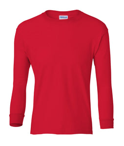 red youth long sleeve t shirt