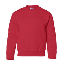 Load image into Gallery viewer, red youth crewneck sweatshirt