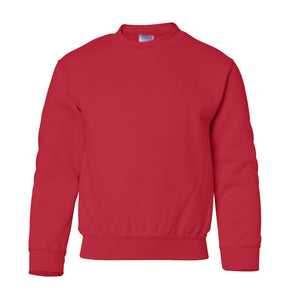 red youth crewneck sweatshirt