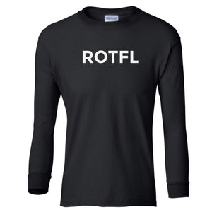 black ROTFL youth long sleeve t shirt for boys