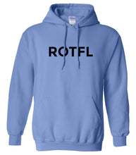 Load image into Gallery viewer, blue ROTFL hooded sweatshirt for women