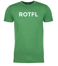 Load image into Gallery viewer, green rotfl mens crewneck t shirt