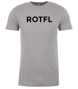 grey rotfl mens crewneck t shirt