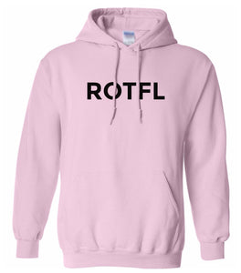 pink ROTFL hooded sweatshirt for women