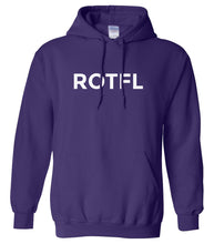 Load image into Gallery viewer, purple ROTFL hooded sweatshirt for women
