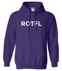 purple ROTFL hooded sweatshirt for women