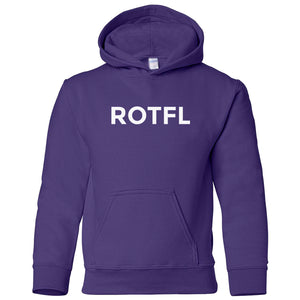 purple ROTFL youth hooded sweatshirts for girls