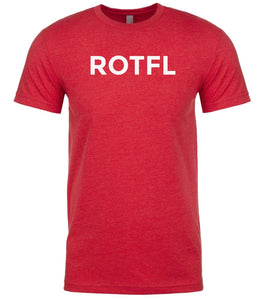 red rotfl mens crewneck t shirt