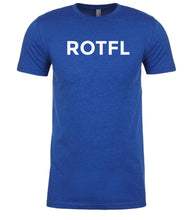 Load image into Gallery viewer, blue rotfl mens crewneck t shirt