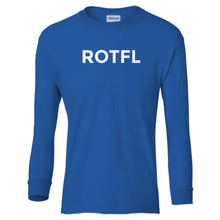 Load image into Gallery viewer, blue ROTFL youth long sleeve t shirt for boys