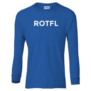 blue ROTFL youth long sleeve t shirt for boys