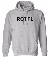 Load image into Gallery viewer, grey ROTFL hooded sweatshirt for women