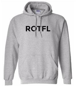grey ROTFL hooded sweatshirt for women