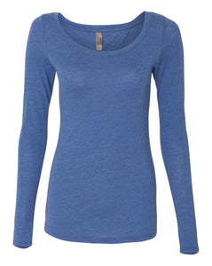 royal women's long sleeve scoop t shirt