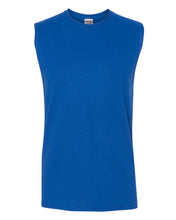 Load image into Gallery viewer, royal blue men's sleeveless t-shirt