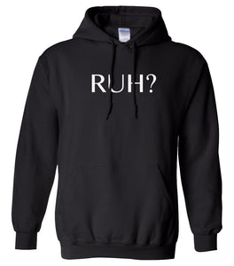 black RUH hooded sweatshirt for women