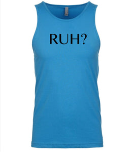 blue ruh mens tank top