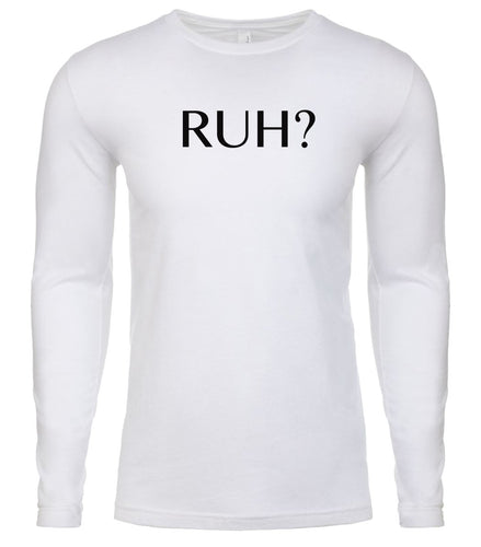 white ruh mens long sleeve shirt