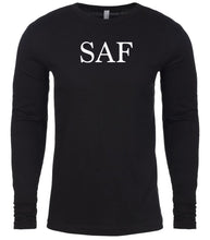 Load image into Gallery viewer, black saf mens long sleeve shirt