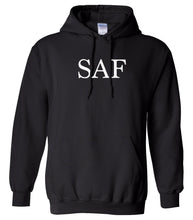Load image into Gallery viewer, black saf mens pullover hoodie